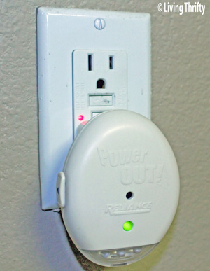 Power Out wall detector in wall